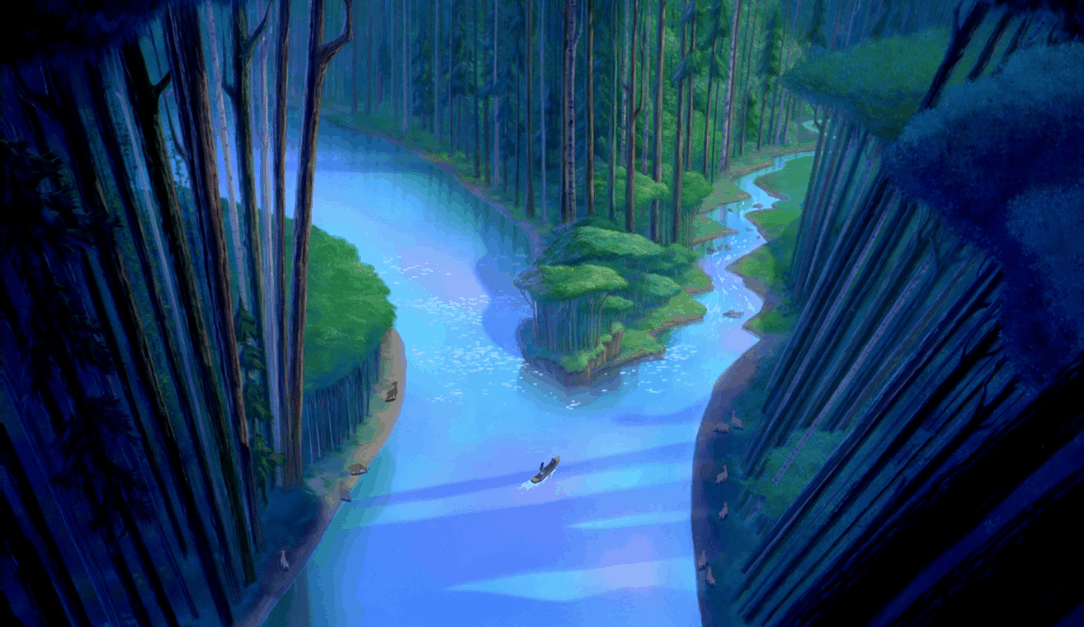Just around the river bend